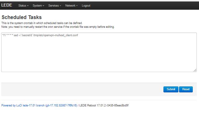 OpenWrt routers and Mullvad VPN - Leitfäden   Mullvad VPN