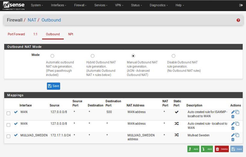 Using pfSense with Mullvad - Leitfäden | Mullvad VPN