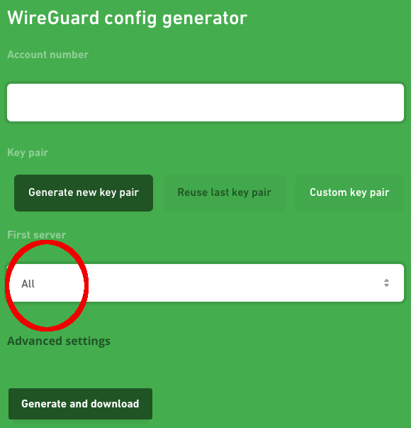 WireGuard configuration tool has a new function - Download