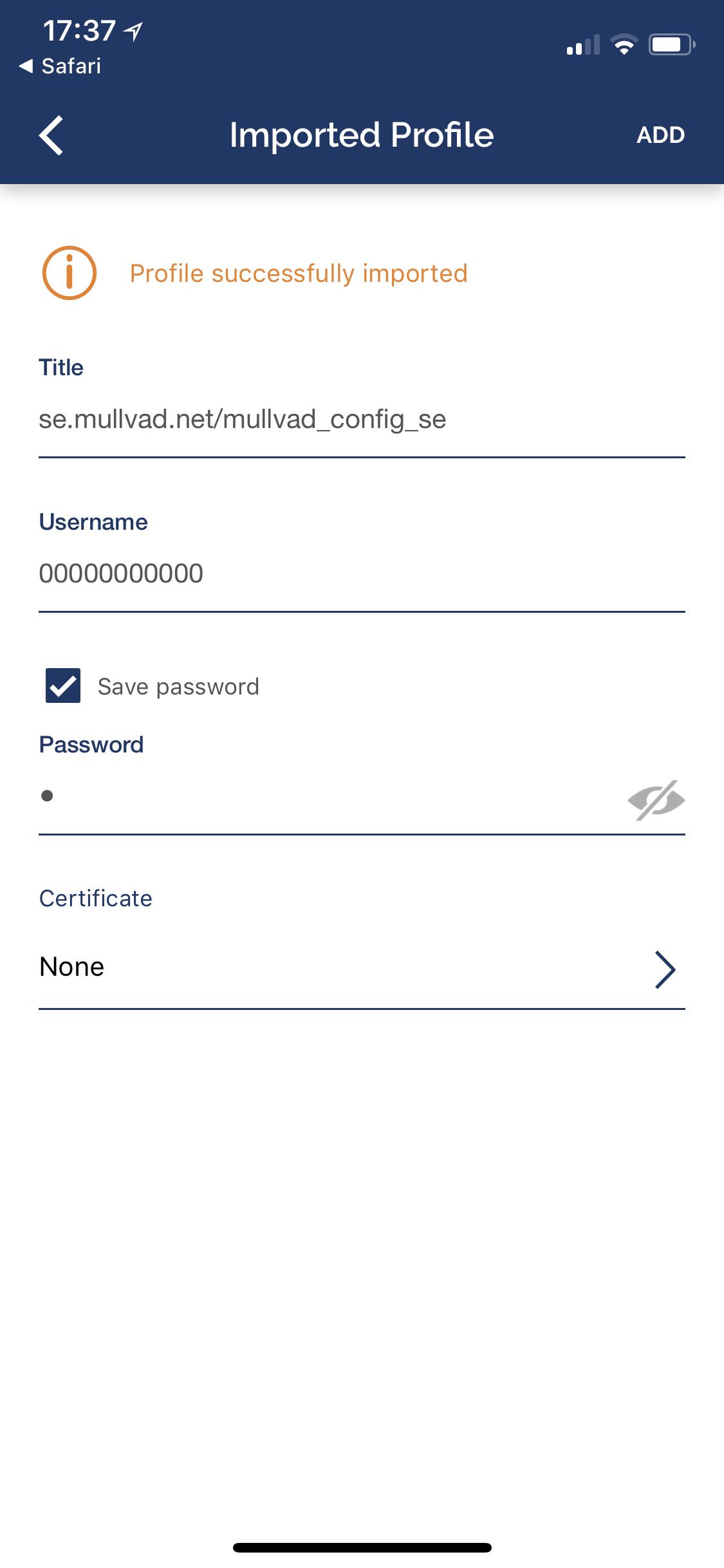 Mullvad on iOS (iPhone, iPad) - Guides | Mullvad VPN